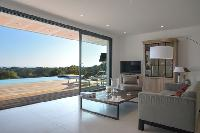 cool glass doors of Corsica - Palombaggia luxury apartment