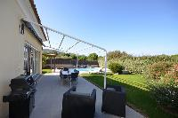 awesome patio with barbecue at Corsica - Pietra luxury apartment