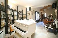 splendid grand piano in Corsica - Villa Authentique luxury apartment