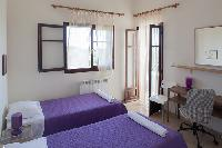 fresh bed sheets in Kefalonia Absolute Ai-Helis Villas Serenata luxury holiday home, vacation rental