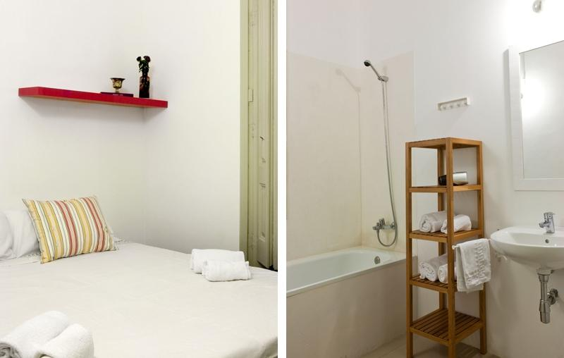 fresh and clean bedroom linens in Barcelona - Sant Pere Modernist P 2 luxury apartment
