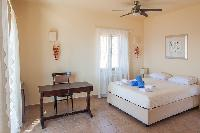 clean bed sheets in Kefalonia Absolute Ai-Helis Armonia luxury holiday home, vacation rental