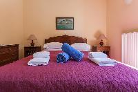fresh bedroom linens in Kefalonia Absolute Ai-Helis Armonia luxury holiday home, vacation rental