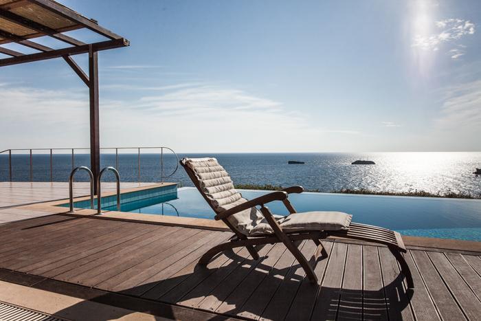 cool infinity pool of Kefalonia Absolute Ai-Helis Armonia luxury holiday home, vacation rental