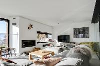 cool living room of French Alps - L'Hermine luxury apartment