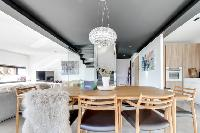 cool interiors of French Alps - L'Hermine luxury apartment