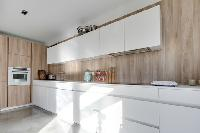 cool modern kitchen of French Alps - L'Hermine luxury apartment