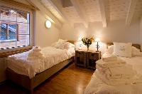 fresh bedroom linens in Duplex Chalet Carmen luxury apartment, holiday home, vacation rental