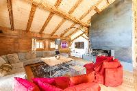 amazing sitting area of French Alps - Le Diamant luxury apartment