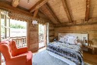 awesome bedroom with balcony at French Alps - Le Diamant luxury apartment