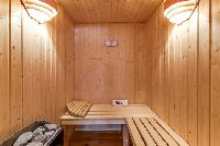 awesome sauna at French Alps - Le Diamant luxury apartment