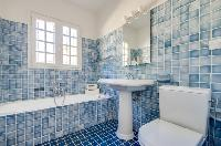awesome bathroom with tub in Saint Raphael - Villa Valescure luxury apartment
