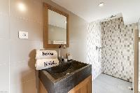 neat and trim toilet and bath in French Alps - Mont-Blanc luxury apartment