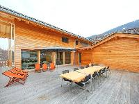 cool terrace of Chalet Woovim House luxury apartment, holiday home, vacation rental