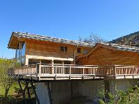 cool balcony of Chalet Woovim House luxury apartment, holiday home, vacation rental