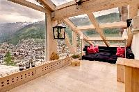 sunny and airy Chalet Heinz Julen Penthouse luxury apartment, holiday home, vacation rental