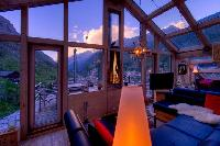 beautiful sunroom of Chalet Heinz Julen Penthouse luxury apartment, holiday home, vacation rental