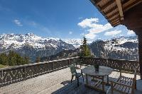 cool balcony of Switzerland Dents Blanches luxury apartment, holiday home, vacation rental
