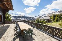 cool terrace of Switzerland Dents Blanches luxury apartment, holiday home, vacation rental