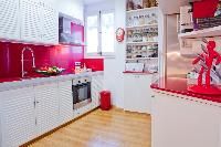 modern kitchen appliances of Barcelona - Terrace 2 luxury apartment