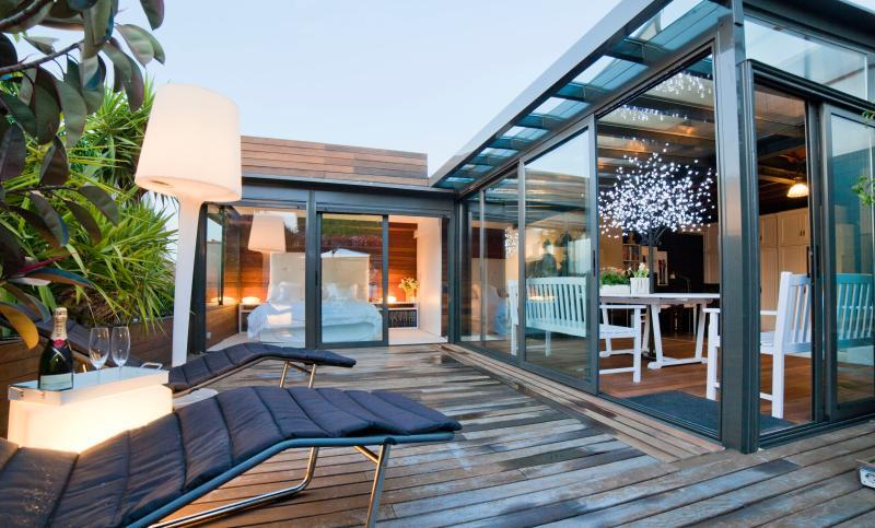 awesome roof deck of Barcelona - Terrace 2 luxury apartment