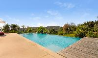 impressive poolside area of Grimaud - Villa Voile d'Argent luxury apartment