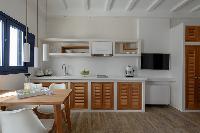 delightful kitchen of Santorini Sea Dream luxury home, perfect vacation rental