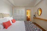 clean bedroom linens in Santorini Sea Dream luxury home, perfect vacation rental