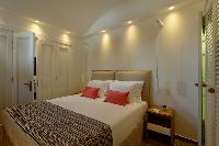 fresh bed sheets in Santorini Sea Dream luxury home, perfect vacation rental