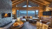 cool barn ceiling of Chalet Alpin Roc luxury apartment, holiday home, vacation rental