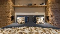 clean and fresh bedroom linens in Chalet Alpin Roc luxury apartment, holiday home, vacation rental