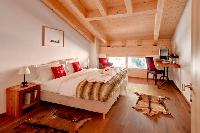 fresh bedroom linens in Penthouse Chalet Zeus luxury apartment, holiday home, vacation rental