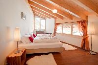 pristine bed sheets in Penthouse Chalet Zeus luxury apartment, holiday home, vacation rental