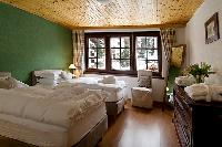fresh bedroom linens in Chalet Venus luxury apartment, holiday home, vacation rental
