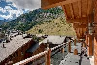 cool balcony of Chalet Zermatt Lodge luxury apartment, holiday home, vacation rental
