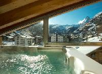 cool whirlpool at Chalet Zermatt Lodge luxury apartment, holiday home, vacation rental