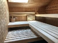 cool sauna of Chalet Zermatt Lodge luxury apartment, holiday home, vacation rental