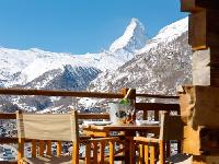 cool balcony of Chalet Maurice luxury apartment, holiday home, vacation rental