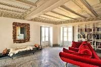 delightful living room of Villa San Giulio luxury apartment