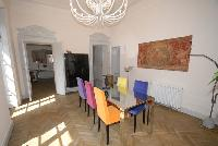 delightful dining room of Villa San Giulio luxury apartment