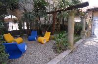delightful lanai of Villa San Giulio luxury apartment