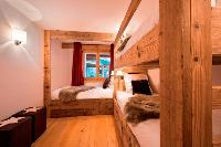 pristine bed sheets in Chalet Delormes luxury apartment, holiday home, vacation rental