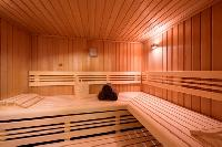 cool sauna at Chalet Delormes luxury apartment, holiday home, vacation rental