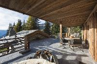 cool balcony of Chalet Petiti luxury apartment, holiday home, vacation rental