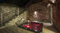 cool whirlpool tub in Chalet Petiti luxury apartment, holiday home, vacation rental
