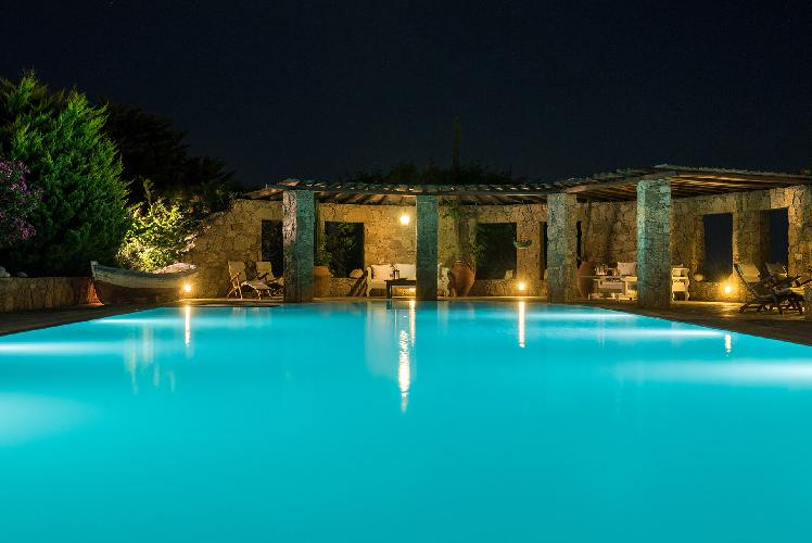 cool swimming pool of Mykonos Grand Retreat Villa luxury holiday home, vacation rental