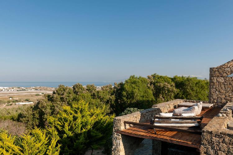 magnificent view from Mykonos Grand Retreat Villa luxury holiday home, vacation rental
