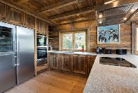 cool modern kitchen of Chalet Toundra luxury apartment, holiday home, vacation rental