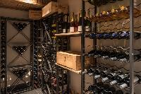 cool wine cellar at Chalet Sirocco luxury apartment, holiday home, vacation rental
