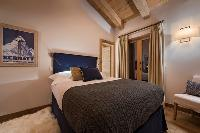 pristine bed sheets in Chalet Sirocco luxury apartment, holiday home, vacation rental